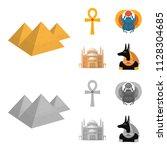 anubis  ankh  cairo citadel ... | Shutterstock .eps vector #1128304685