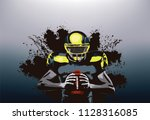 american football player... | Shutterstock .eps vector #1128316085