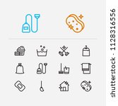 cleaning icons set. cleaning...