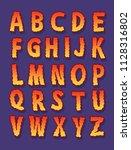 funny horror serif font.... | Shutterstock .eps vector #1128316802