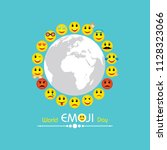world emoji day greeting card... | Shutterstock .eps vector #1128323066