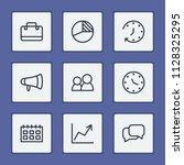economy icons set with...