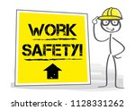 work safety   construction... | Shutterstock .eps vector #1128331262