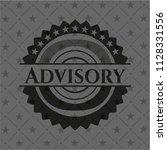 advisory realistic dark emblem | Shutterstock .eps vector #1128331556