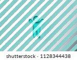 aqua color child icon on the...