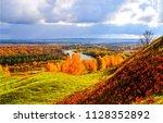 autumn river valley landscape.... | Shutterstock . vector #1128352892