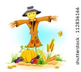Illustration Of Scarecrow With...