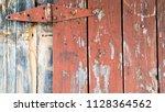 old wooden barn door farmhouse... | Shutterstock . vector #1128364562