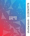 vector report template. global... | Shutterstock .eps vector #1128365978