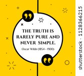 vectors quote.  the truth is... | Shutterstock .eps vector #1128366215