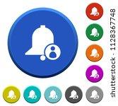 user reminder round color... | Shutterstock .eps vector #1128367748