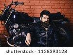 bikers lifestyle concept. man... | Shutterstock . vector #1128393128
