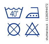 clothes wash icons | Shutterstock .eps vector #1128394472