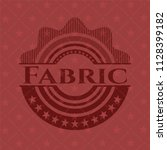fabric badge with red background   Shutterstock .eps vector #1128399182