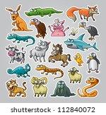 vector illustrated set of... | Shutterstock .eps vector #112840072