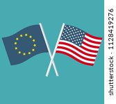 vector icon set of flags of the ... | Shutterstock .eps vector #1128419276