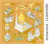 map builder isometric arabian... | Shutterstock .eps vector #1128423482