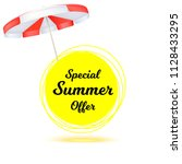 special summer offer. summer... | Shutterstock . vector #1128433295