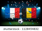 day of the match. france versus ... | Shutterstock .eps vector #1128454832