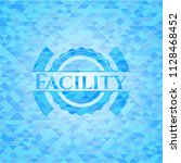 facility sky blue emblem with...   Shutterstock .eps vector #1128468452