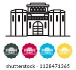 historical icon pune city  ... | Shutterstock .eps vector #1128471365