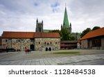 nidaros cathedral  trondheim  | Shutterstock . vector #1128484538