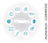 vector white round car check...   Shutterstock .eps vector #1128485102