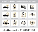 vector telematic technology... | Shutterstock .eps vector #1128485108