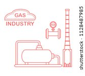gas processing plant.... | Shutterstock .eps vector #1128487985