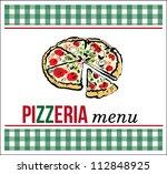 pizza menu | Shutterstock .eps vector #112848925