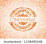 confidential abstract orange... | Shutterstock .eps vector #1128490148