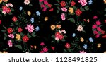 seamless floral pattern in... | Shutterstock .eps vector #1128491825