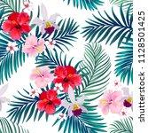 beautiful seamless vector... | Shutterstock .eps vector #1128501425