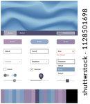 light pink  blue vector web ui...