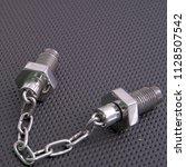 spikes chain balls nunchaku... | Shutterstock . vector #1128507542