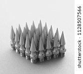 spikes chain balls nunchaku... | Shutterstock . vector #1128507566