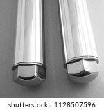 spikes chain balls nunchaku... | Shutterstock . vector #1128507596