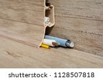 laying of wires in a floor... | Shutterstock . vector #1128507818