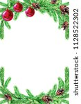 christmas card with fir... | Shutterstock . vector #1128522302