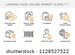 flat line design concept icons... | Shutterstock .eps vector #1128527522
