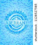 aberrant realistic sky blue...   Shutterstock .eps vector #1128527585