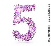 3d number with abstract... | Shutterstock . vector #1128528398