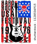 hard rock music poster | Shutterstock . vector #1128536915