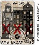 amsterdam poster t shirt design | Shutterstock . vector #1128536942