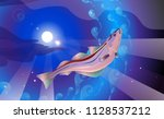 background the lilac and blue... | Shutterstock .eps vector #1128537212