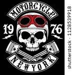 motorcycle helmet typography... | Shutterstock . vector #1128539918