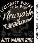 motorcycle tee graphic design | Shutterstock . vector #1128543032