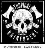 skull t shirt graphic design | Shutterstock . vector #1128543092