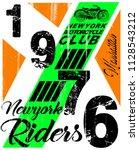 motorcycle label t shirt design ... | Shutterstock . vector #1128543212