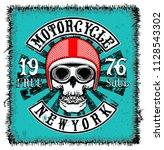 motorcycle label t shirt design ... | Shutterstock . vector #1128543302